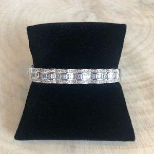 Jewelry - CZ and Silver Scalloped Bracelet